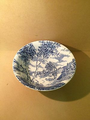 """W.H Grindley """"Country Style"""" Blue & White Bowl sunday morning"""