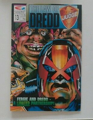 THE LAW OF DREDD - Judge Dredd Comic #13 Fleetway Quality
