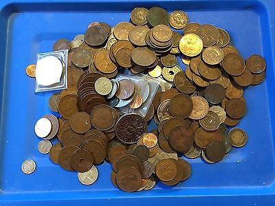 1.800 kg coins world Old English Coins.big bulk lot mixed coins all sorts