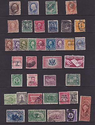 Joblot 114 USA stamps , early issues, Post/due, specials and oddities    4 scans