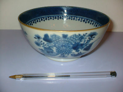 Signed Antique Chinese Blue And White Bowl Interesting Piece in Perfect Order