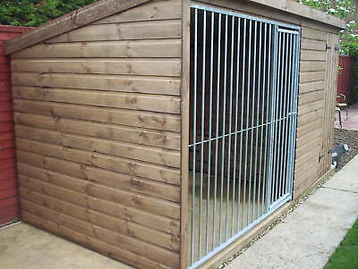 Dog Kennel & Run With Galvanised Run Panel  - From £470