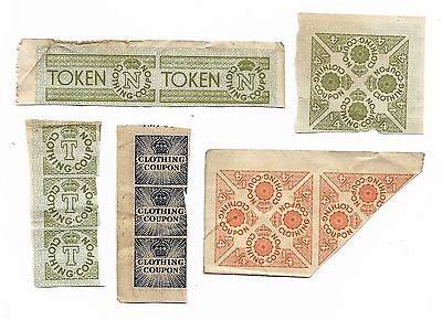 Wwii Rationing - Clothing Coupons - Five Types