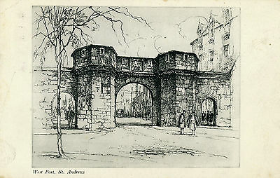 West Port St.Andrews - etching  image by CGL Phillips