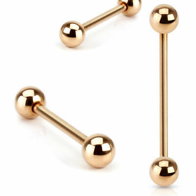 Zungenpiercing Barbell Piercing Tragus Helix Conch Intim Brust Ohr Rose Gold