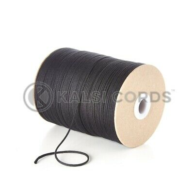 2mm Thin Round Cotton Cord Beading Jewellery & Craft String Non Waxed Thread