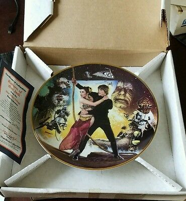 Star Wars Trilogy Plate Collection - The Hamilton Collection COMPLETE SET w/COA