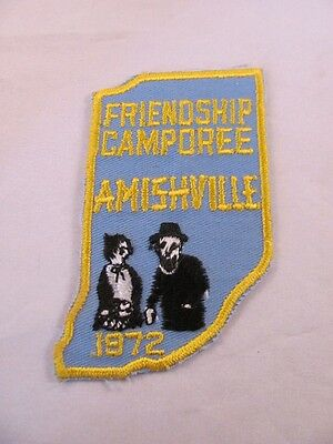 Vintage Boy Scout BSA Patch Friendship Camporee Amishville Indiana IN 1972 4 in