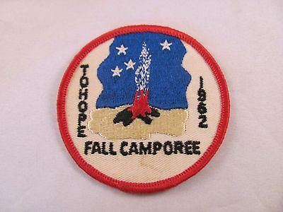 Vintage Boy Scout BSA Patch Tohope Fall Camporee 1962 Round 3 in Campfire Stars