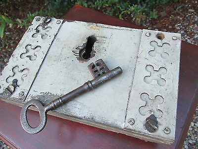 Antique 19th c  church lock working with key