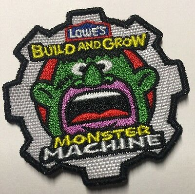 PATCH  2011 Monster Machine Patch/Badge LOWES Build Grow Kids Clinic