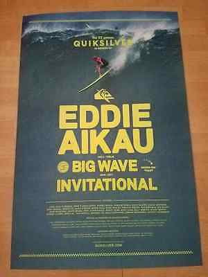 NEWEST 2016-2017 EDDIE Aikau WOULD GO OFFICIAL POSTER SURF HAWAII Quiksilver 17
