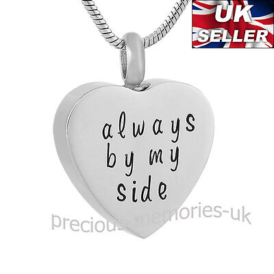 Heart Memorial Ashes Necklace - Funeral Cremation Jewellery - Ash Urn Pendant
