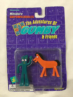 Adventures Of Gumby and Friends Miniature Superflexibles 1996 Gumby & Pokey NIB