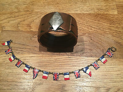Boer War Trench  Art Napkin Holder WW1 French/Union Jack Bracelet
