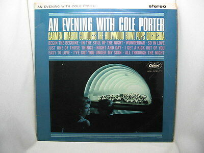 An Evening with Cole Porter, Hollywood Bowl Pops Orch. SW1805 Vinyl LP