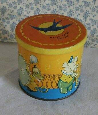 Small Vintage Blue Bird Toffees Tin
