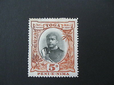 Tonga 1897 5d SG 46 heavy MM cat £32