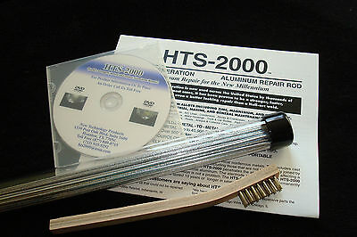 "10 18"" Aluminum Brazing Rods HTS- 2000 Low Temp~ Complete Kit~ Repairs Easily"