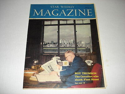 ROY THOMPSON on cover Star Weekly magazine May 1960