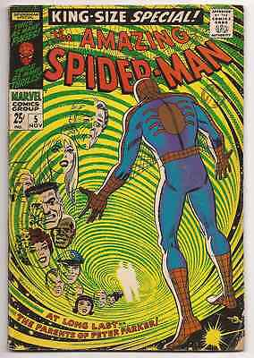 Amazing Spider-Man Special #5 Silver Age 1968 1st Parker Parents