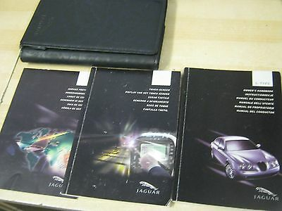 Jaguar S-Type Owners Manual Handbook  2001-2005 S Touch Screen Navigation Wallet