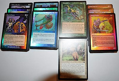 4x 55 card with FOILS complete Magic the Gathering Nemesis common set