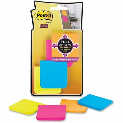 """NEW 3M Post-it Super Sticky Adhesive Notes Pad 2""""x 2"""" Assorted Colours Pack of 8"""