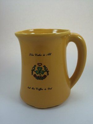 Pa Dutch Pottery Large Mug Stein Pitcher The Cake is All