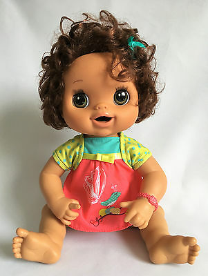 Hasbro 2010 Baby Alive Real Surprises Interactive Doll (English) Brown Brunette