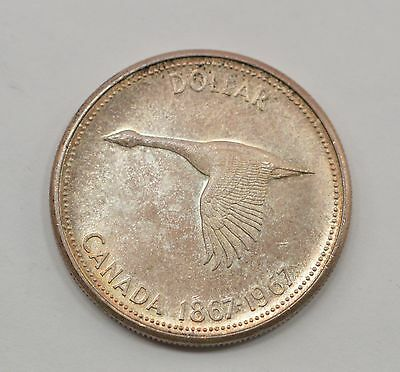 1967 Canada *Proof Like* 1 Dollar Silver Foreign Coin *Q78