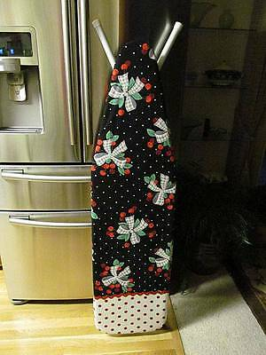 Handmade Custom Ironing Board Cover Cherries and Bows Bunches tied w/ Check Bows