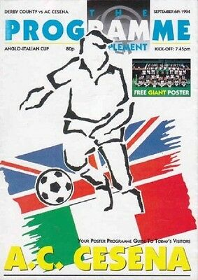 1994/95 Derby County v A.C. Cesena, Anglo-Italian Cup, PERFECT