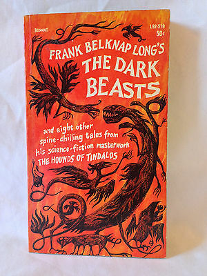 Frank Belknap Long THE DARK BEASTS Belmont 1964 1st prtg vintage paperback