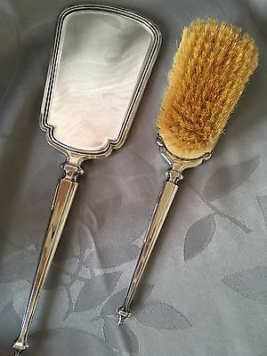 Rosen Brothers Antique Grooming Set Mirror Brush Silver