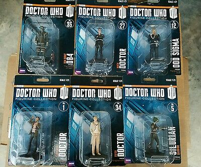 DOCTOR WHO EAGLEMOSS COLLECTIONS 1/21 size  11 figure lot