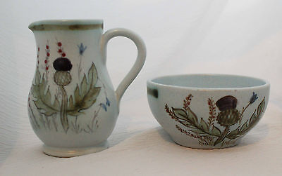 Buchan Thistle Cream and Sugar Creamer 4 1/4 Inches tall
