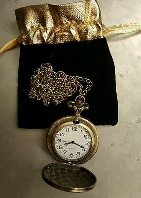 ALICE IN WONDERLAND Replica White Rabbit's POCKET WATCH - Cosplay Halloween