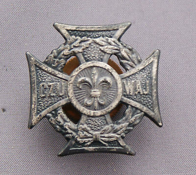 Boy Scout Pin Poland Screw Back Pewter Coloration