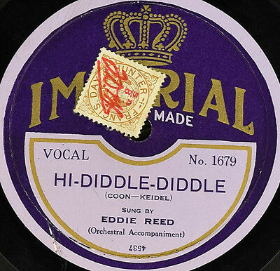 Schellackplatte - Eddie Reed - Hi-Diddle-Diddle / For Baby And Me - gramophone