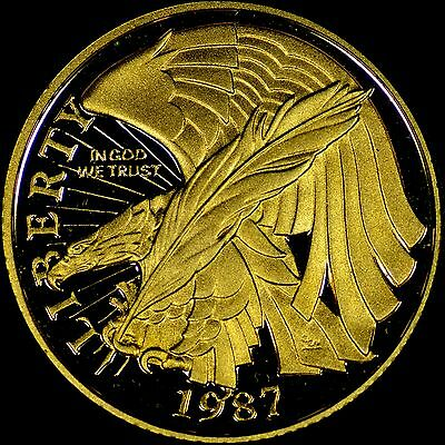 1987 W Constitution $5 Proof Gold Coin