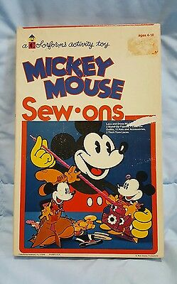 Colorforms Mickey Mouse Sew-Ons Unpunched!