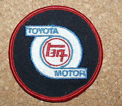 Toyota Shop  Automobile Patch Crest Unsewn and Unworn 3 inches across