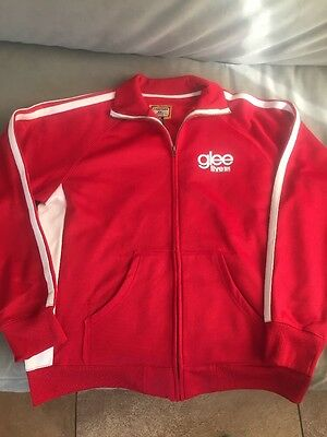 2011 GLEE Live Tour Red Zip Up Track Jacket Television Series