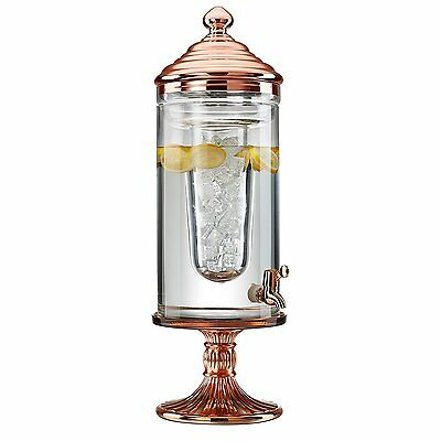 Artland Ariana Beverage Dispenser with Bright Copper Finish, 3 gallon, Clear