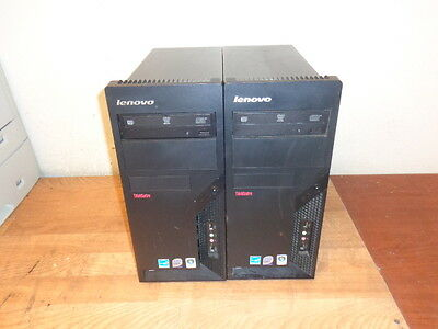 lot of 2 LENOVO Thinkcentre 7188 Core 2 Duo Tower PC w/3.16GHz 160GB HD 2 GB Ram