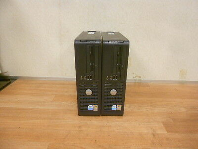 One Lot of 2 DELL OPTIPLEX GX520 DCCY Pentium D w/2.8 GHz 2 GB Ram CDROM WORKING