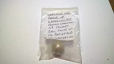 Battle of Waterloo French Charleville .69 Musket ball