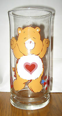 Vintage 1983 TENDERHEART CARE BEAR Pizza Hut GLASS American Greeting Collector