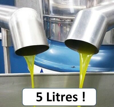 Olive Oil CERTIFIED Extra Virgin Premium Quality Unrefined Cold Press 2017 5 L
